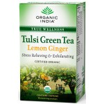 Organic India Tulsi Lemon Ginger Green Tea