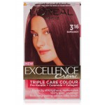 L'oreal Excellence Hair Color - 3.16 Burgundy