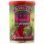 Borges Green Olives Stuffed With Pepper